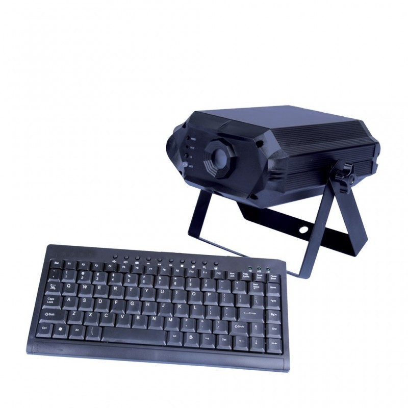 Location Laser Text RGB - Laser à écriture avec clavier Lorient Caudan